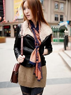 时尚单品:显瘦皮衣适合各种身材比例的MM