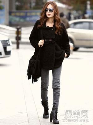 冬天穿衣搭配保暖显瘦很重要