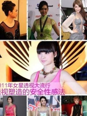 盘点2011年度女星示范的裸露性感大法透视装