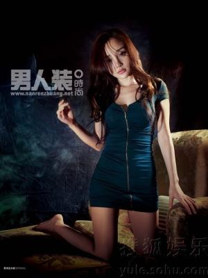 李小璐登《男人装》1月封面:看我小鹿乱撞