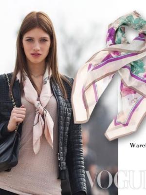 潮人教你5类春季丝巾实用搭法