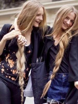 绯闻女孩不对称的侧扎发型更妩媚