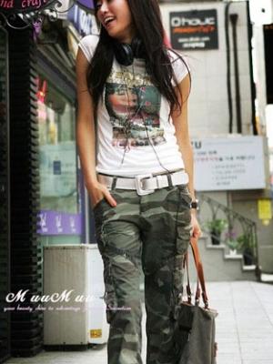 女孩夏季长裤时尚搭配法