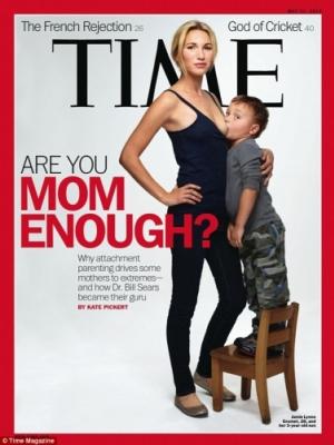 《时代》封面登母亲杰米母乳喂养3岁儿子照片惹争议
