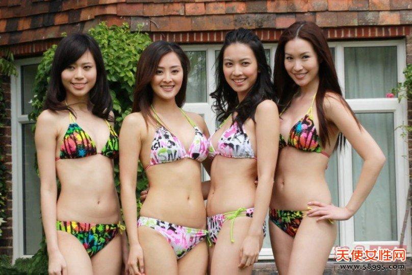 《2012年香港小姐竞选》在英国伦敦外景拍摄之旅曝光泳装拍摄环节,陈百祥担任评委称本届水平高。