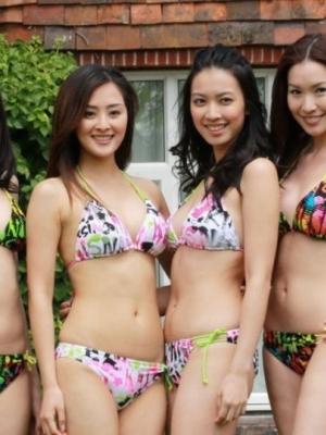 2012年香港小姐泳装竞选 比拼身材肌肤细节