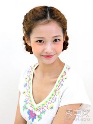 教你三种韩国女生辫子编发发型(图解)