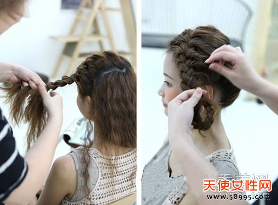 教你三种韩国女生辫子编发发型 图解