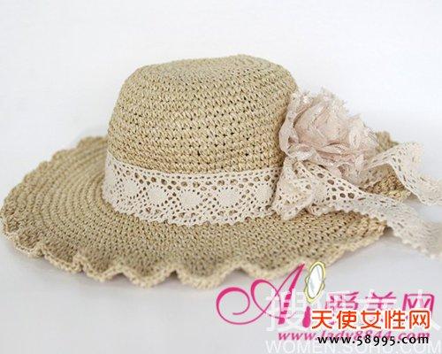 浪漫防晒编织帽 甜美发型新搭