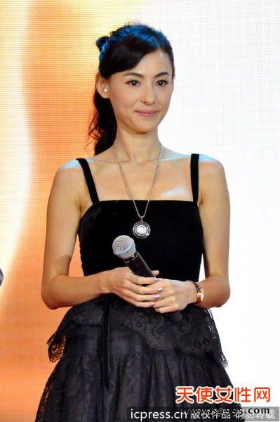 2012年9月26日,北京,电影《危险关系》北京发布会。张柏芝(东方IC)