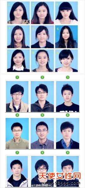 武汉大学一组学生证件照走红